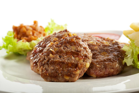 Serbian Rissoles with Bacon and Cheese photo
