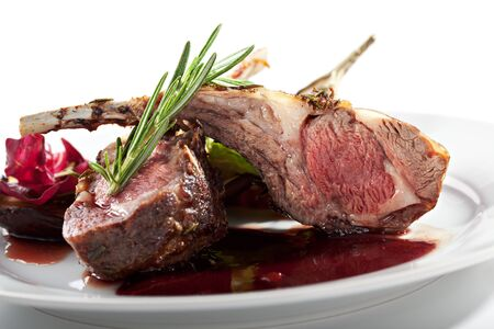 Grilled Rack of Lamb with Thyme photo