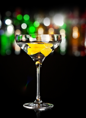 chilled: Cocktail with Lemon Stock Photo