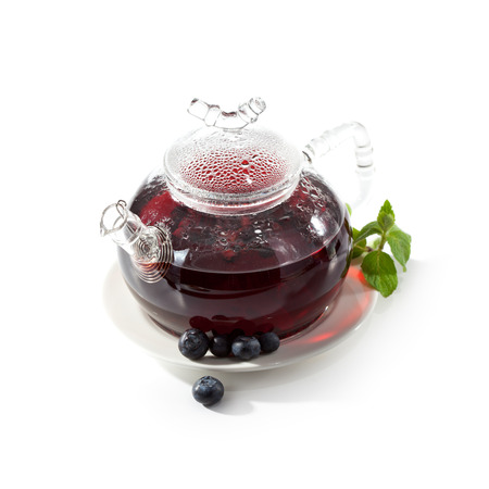 Berries Tea with Fresh Mint photo