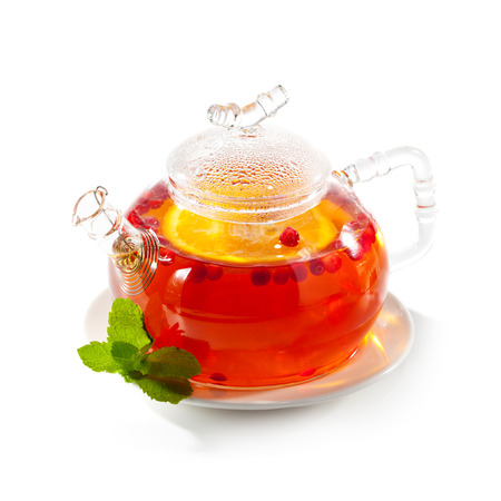 Tea with Berries and Orange photo