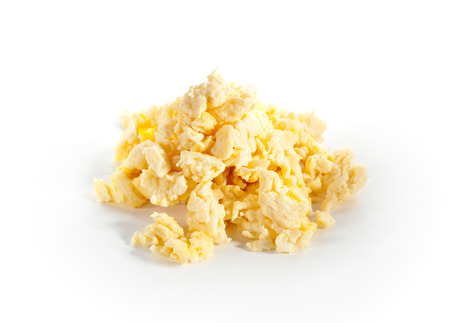 scrambled eggs: Scrambled Eggs Isolated over White