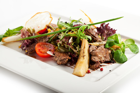 Salad with Chicken Liver and Mango photo
