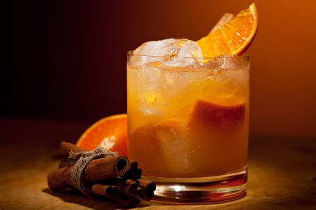 Tangerine Cocktail - Vodka, Tangerine, Lime Juice and Cinnamon Syrup photo