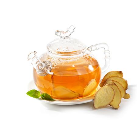 Tee mit Ingwer-Wurzel Standard-Bild - 26674261