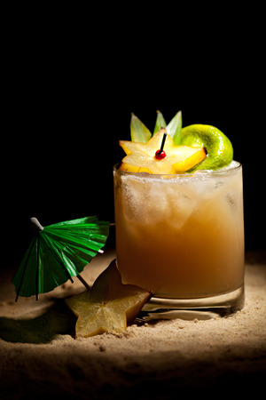 Mai Tai Cocktail - Dark Rum, White Rum, Orange Liquor, Almond Syrup, Lime Juice photo