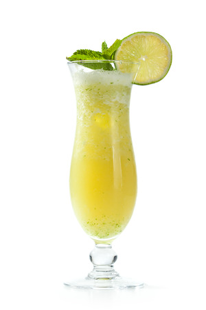ice crushed: Frozen Lime Cocktail