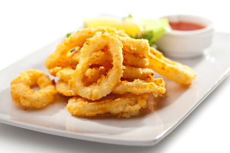 crunchy: Deep Fried Calamari Rings