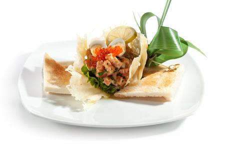 Salmon Tartare with Crispy Bread photo