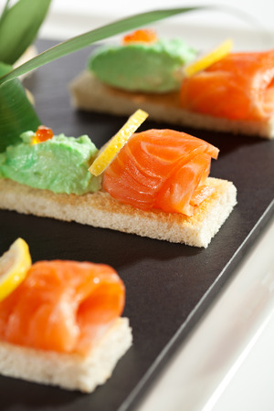 Salmon Fillet with Avocado Mousse photo