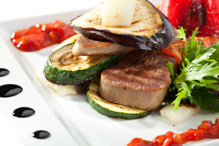 Grilled Beef Tongue with Vegetables photo