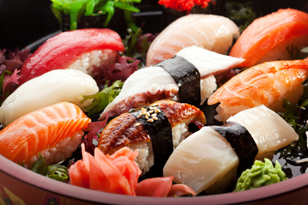 Japanese Cuisine - Sushi Set Stock Photo - 26680690