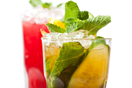 carbonated: Pimms Cocktail Stock Photo