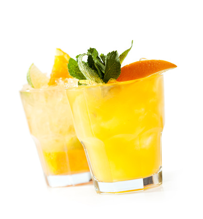 Whiskey Peach Smash Cocktail photo