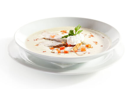 Cream Soup with Chicken Fillet and Cream Cheese photo