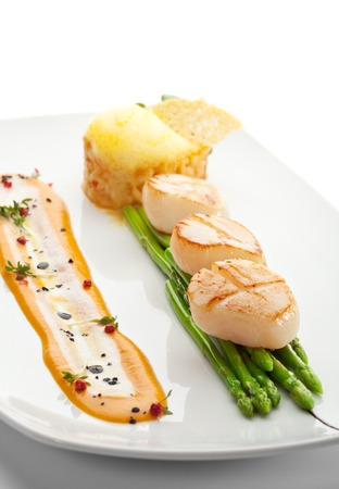 risotto: Scallop with Asparagus and Risotto
