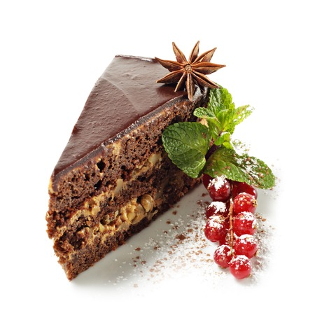 chocolate syrup: Dessert - Chocolate Pie with Fresh Berries and Anise