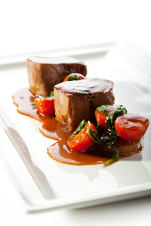 glace: Beef Tongue with Spinach and Potatoes