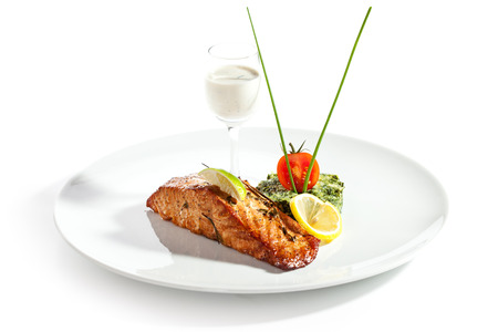 Smoked Salmon Fillet with Cheese Sauce photo