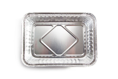 plastic box: Foil Food Box over White