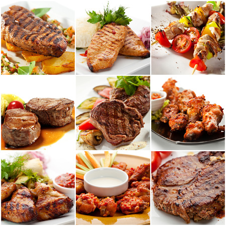BBQ Collection  Grilled Meat and Chicken photo