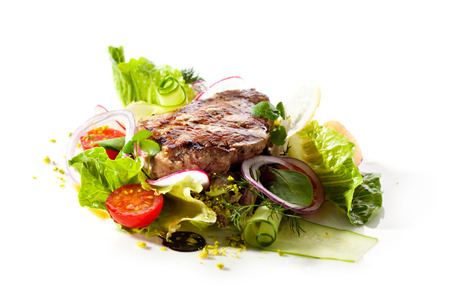 rib eye: Rib Eye Steak with  Vegetables