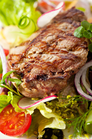 rib eye: Rib Eye Steak with  Vegetables