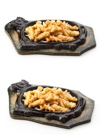 tuna fillet: Fried Fish Fillet over White