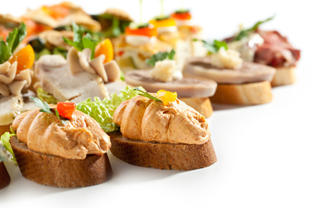 canapes: Canapes Isolated on White Background