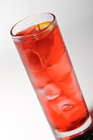 grenadine: Red Cocktail with Grenadine Syrup, Soda and Campari