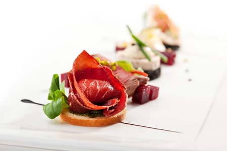 Jamon Canapes with Pesto Sauce