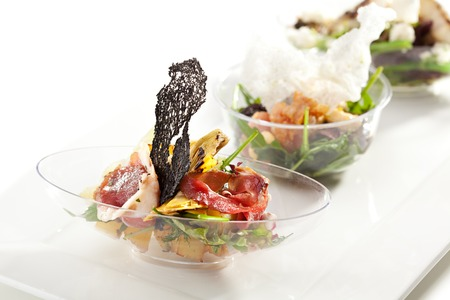 salad buffet: Buffet Salad on White Dish