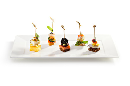 canapes: Delicious Seafood and Vegetables Canapes