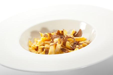 white truffle: Delicious Pasta with Truffle Slice