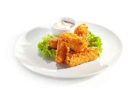 tartar: Fried Cheese Sticks with Tartar Sauce