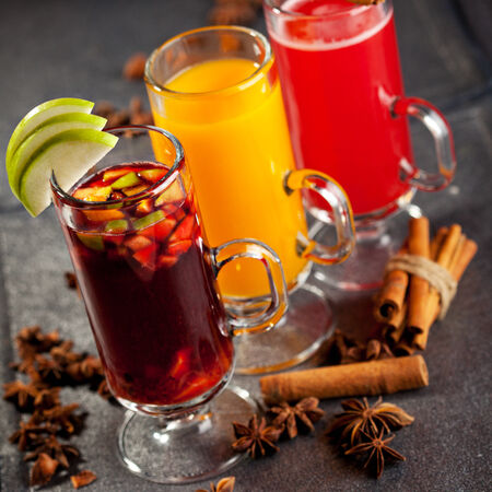 warm drink: Warm Cocktail - Mulled Wine and Berries Tea