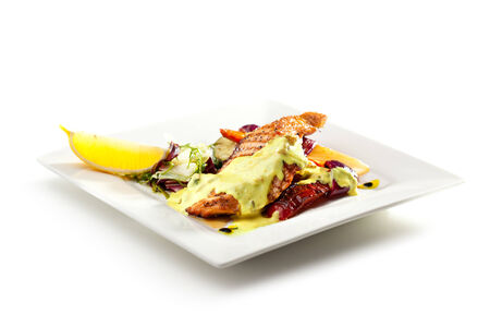 Grilled Salmon with BBQ Vegetables photo