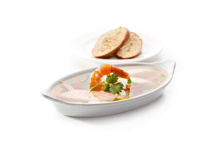 Seafood Aspic with Crispy Bread photo