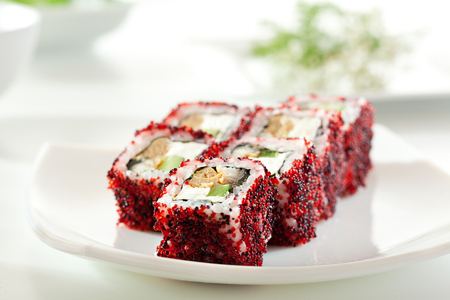 Maki Sushi - Roll made of Cream Cheese photo