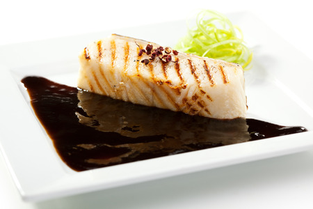 seabass: Grilled Seabass with Balsamic Sauce