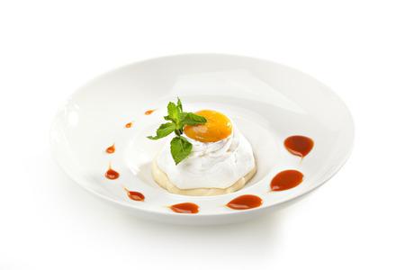 Souffle topped with Mango Jam photo