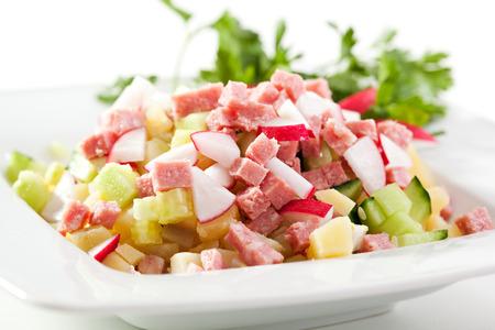 Frisches Gemüse und Fleisch-Salat