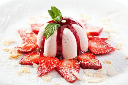 Sweet Dessert with Strawberries and Berries Jam 写真素材