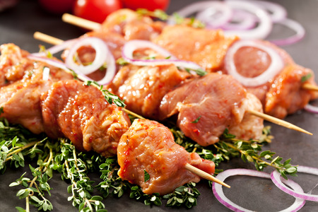 Marinated Meat with Onions and Thyme
