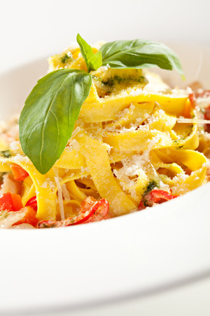 Pasta with Bacon and Tomatoes photo