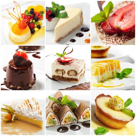 dessert plate: Collection of Sweet Dessert Slice