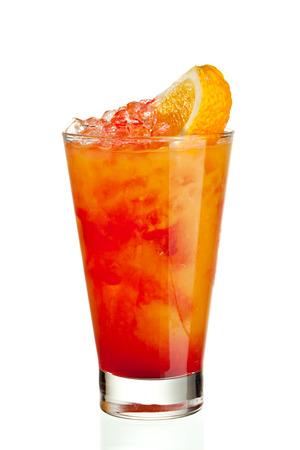 grenadine: Fruits Cocktail with Orange, Pineapple, Grapefruit and Grenadine Stock Photo