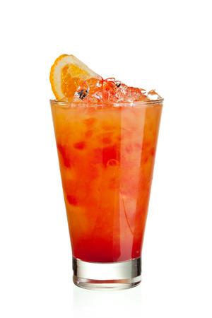 Fruits Cocktail with Orange, Pineapple, Grapefruit and Grenadine Standard-Bild