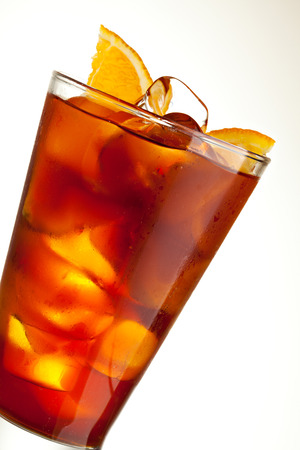 energy drink: Cocktail with Energy Drink, Cola and Slice of Orange