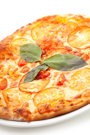 margherita: Pizza Margherita made with Cherry Tomatoes, Gauda Cheese and Mozzarella